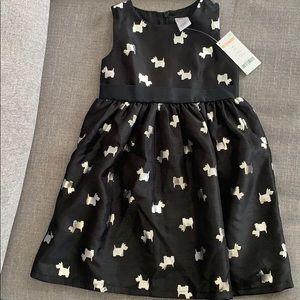 Toddler girls Gymboree black dress Size 4T NWT